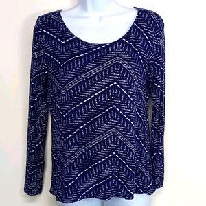 Women's Lucky Brand Medium Navy Blue Blouse